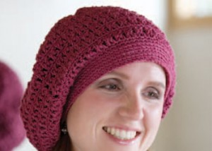 Learn how to crochet this beret hat pattern.