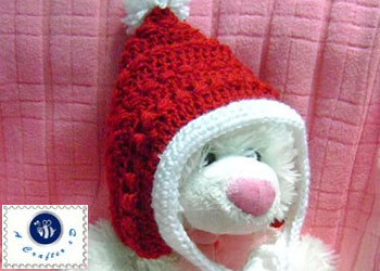 Christmas baby pixie hat pattern.