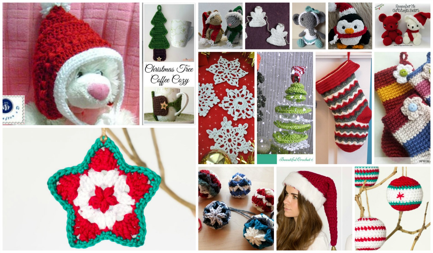 Free crochet Christmas ornament patterns you'll love.