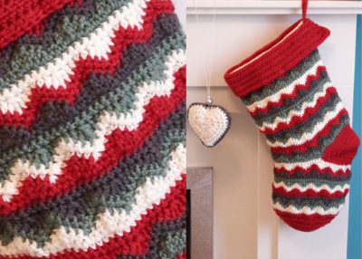 Christmas stocking crochet pattern.