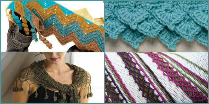 Crochet Edging Patterns How To Lace Borders Picot Interweave