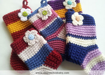Mini crochet christmas stocking patterns.