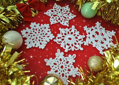 Crochet snowflake patterns.