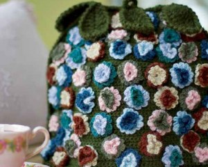 The Flowered Tea Cozy Is A Flower Covered Crochet Pattern Found In Our Free
