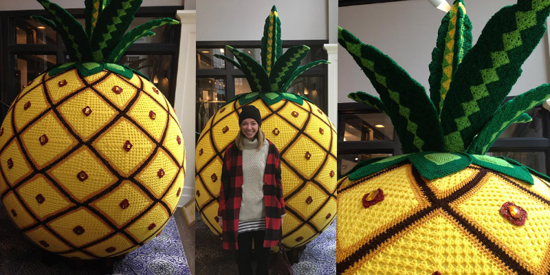 Tracking the Giant Crochet Pineapple