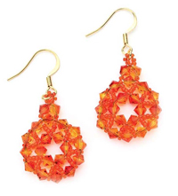 The Crystal Corona Earrings are crystal earrings that can be found in our free eBook.