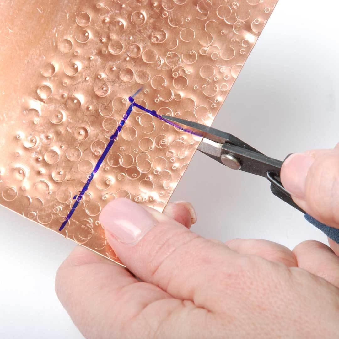 cut metal stamped sheet