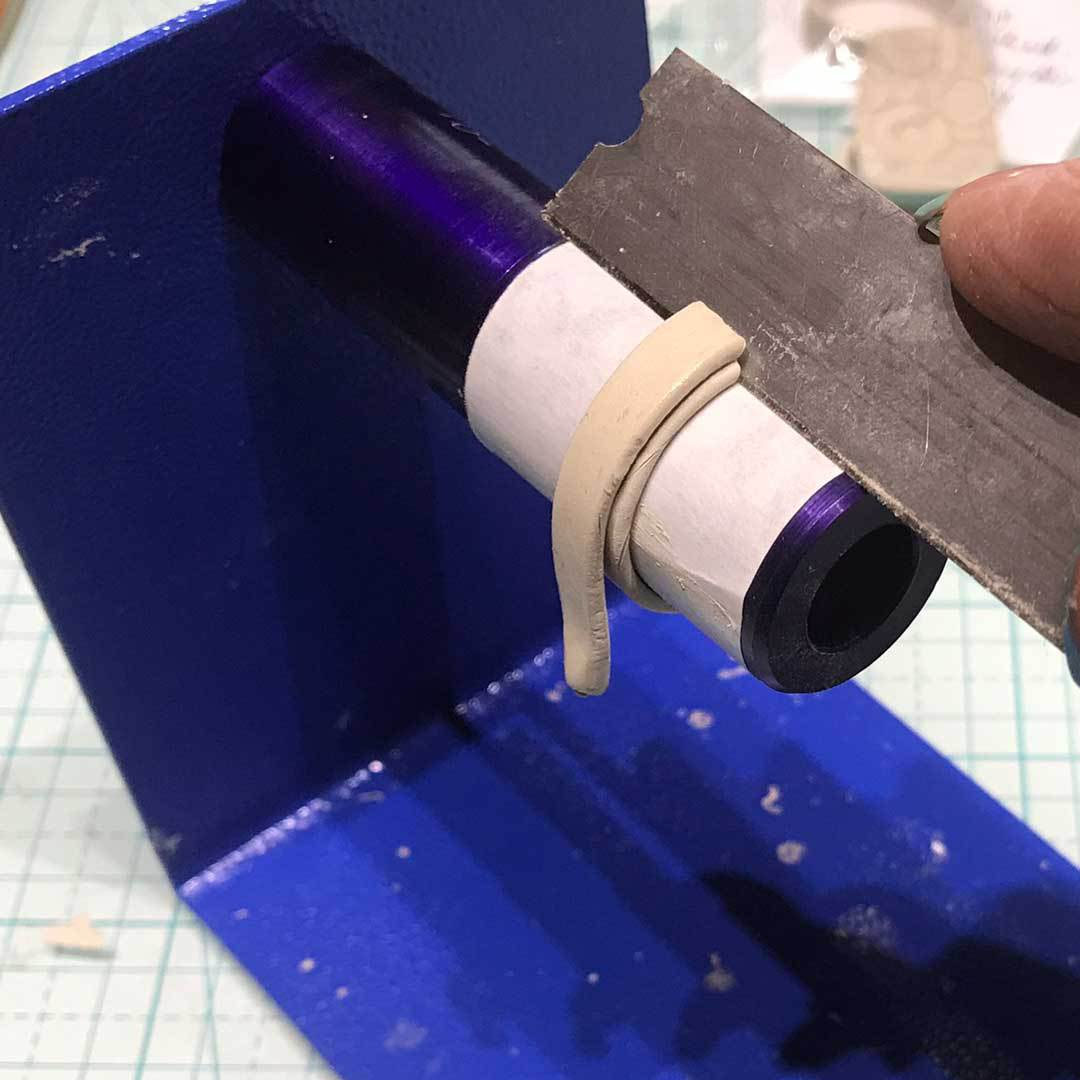 cutting clay ring band