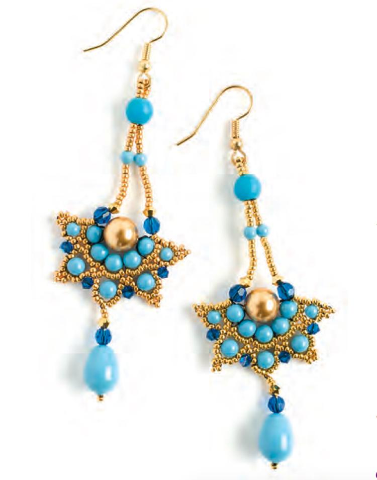 making earrings with beads, Earthen Treasure Pattern Bundle, beadweaving, Agnieszka Watts, Dancing Birch Earrings
