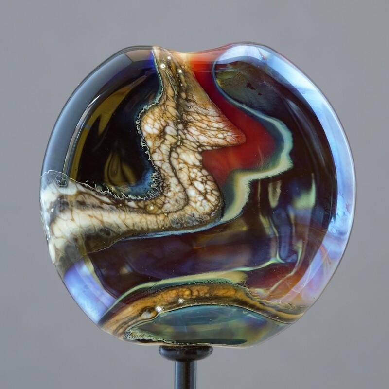 Lampwork glass bead by Darryle Jadaa.