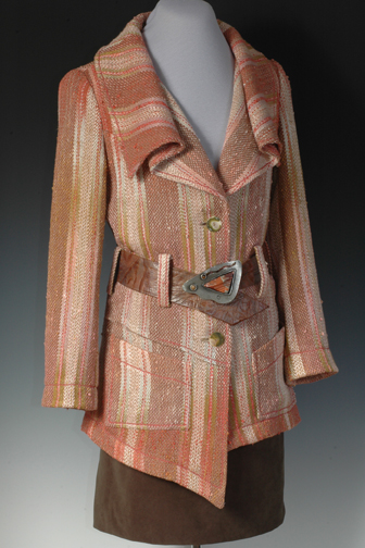 Learn how to weave gorgeous garments like this jacket with the help of expert weaver Daryl Lancaster!