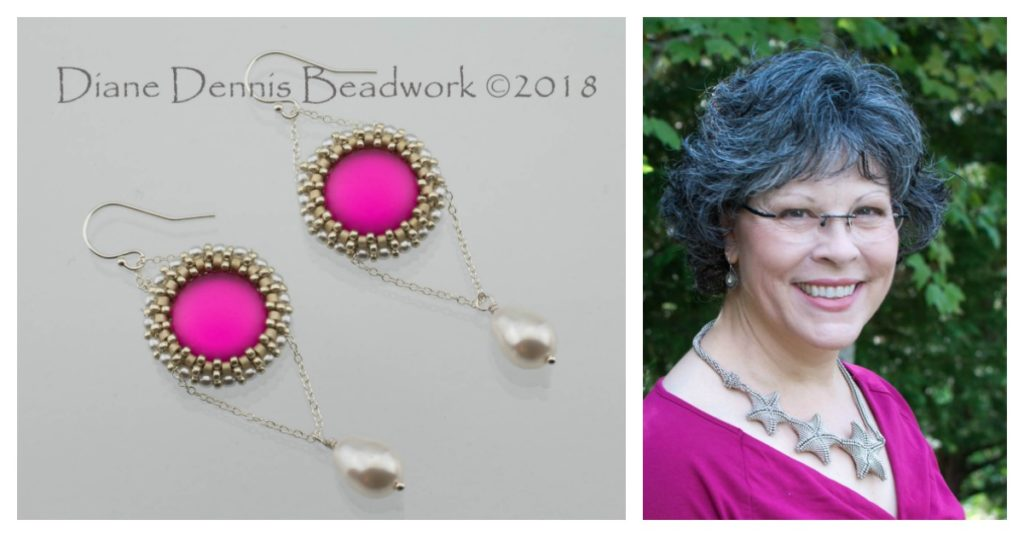 Luna Cab Earring design by Diane Dennis.