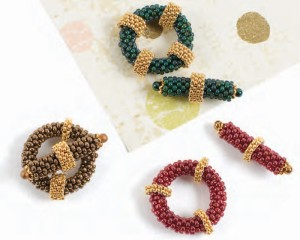 Make this DIY jewelry findings beaded clasps in this free peyote stitch beading eBook.