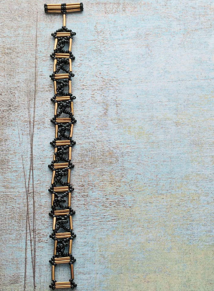 Create this free, ironwork bead embellishment bracelet in our FREE eBook.