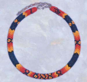 Learn how to make this DIY peyote stitch necklace in this free Native American beadwork eBook.
