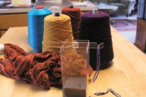Learn how to make your own yarn balance to identify mystery yarns in this FREE eBook on DIY spinning equipment.