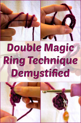 Double magic crochet technique demystified! Share with your friends!
