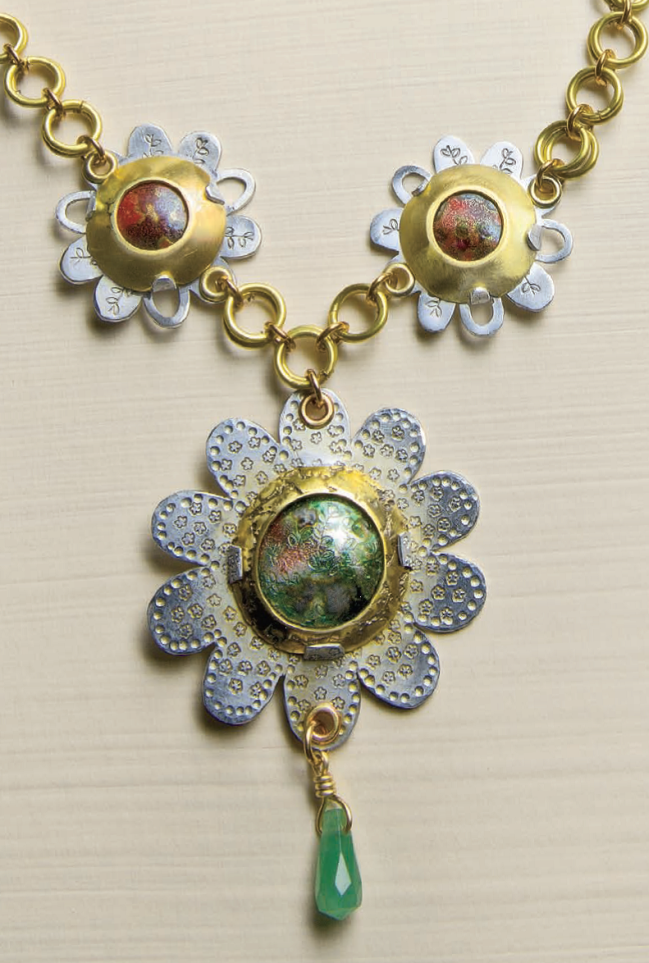 Helen Driggs torch fired enamel jewelry necklace