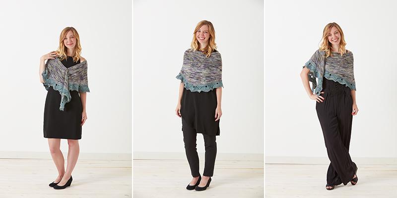crescent shawl