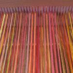 Rigid-heddle Mardi Gras Scarf