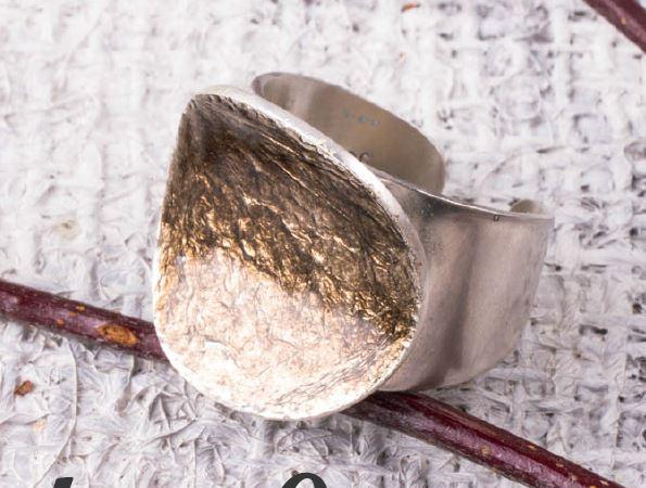 enameled ring by Pauline Warg