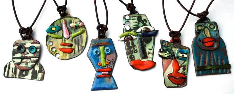 Take your enameling skills to the next level and learn how to use liquid, crayon, and acrylic enamels while creating these whimsical artistic pendants.