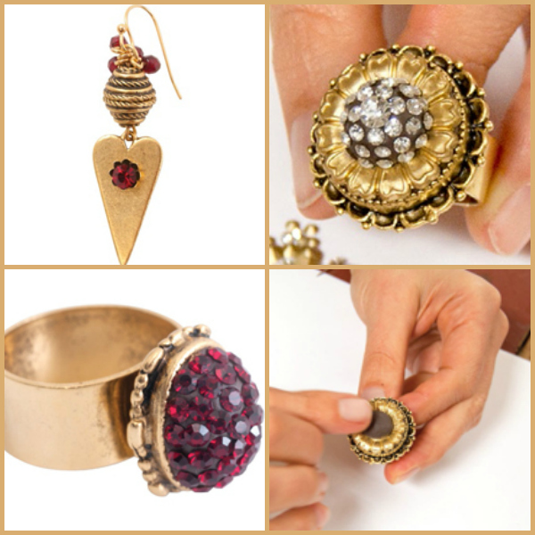 Free crystal clay jewelry projects with crystals, stones and more.