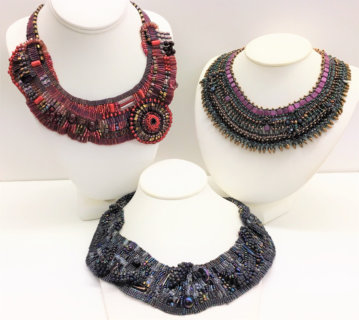 Look at some of the beautifully freeing designs you can make at Bead Fest! Join Cheryl Erickson for her class on Freeform Brick Stitch.