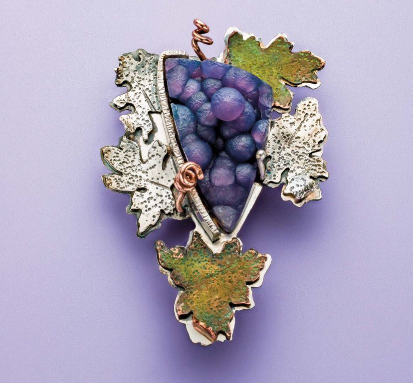 Lexi Erickson's Grape Cluster Pendant, Lapidary Journal Jewelry Artist, November 2016; photo: Jim Lawson