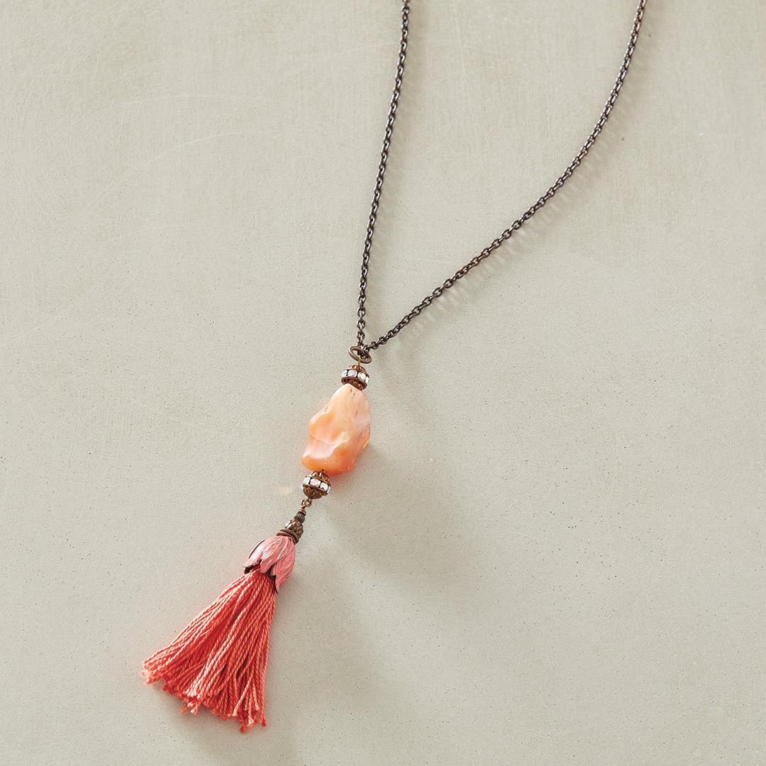 Stephanie Fredin's Carnelian Comet Necklace