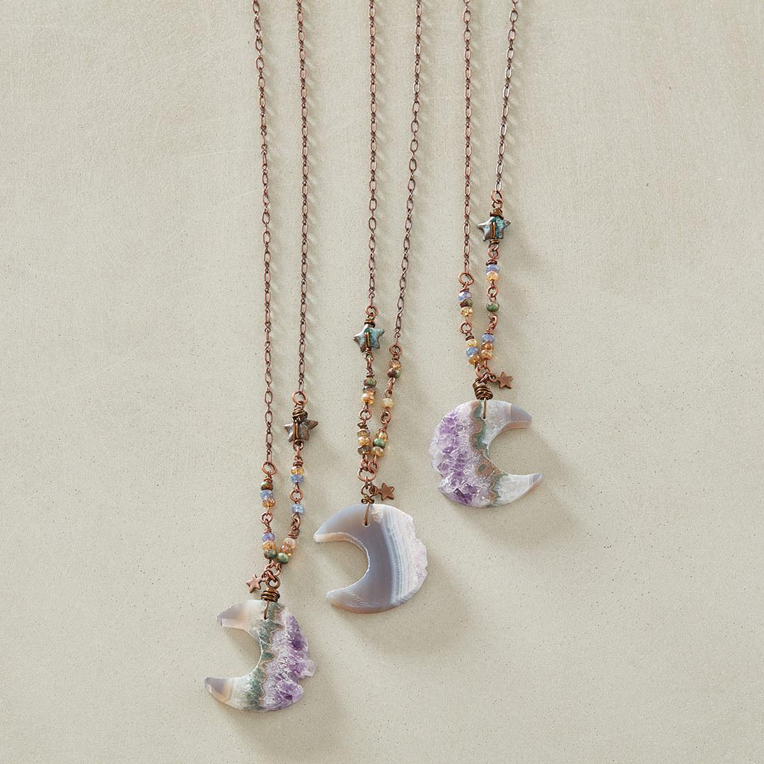 Kristina Hahn Eleniak's Under an Amethyst Moon Necklace