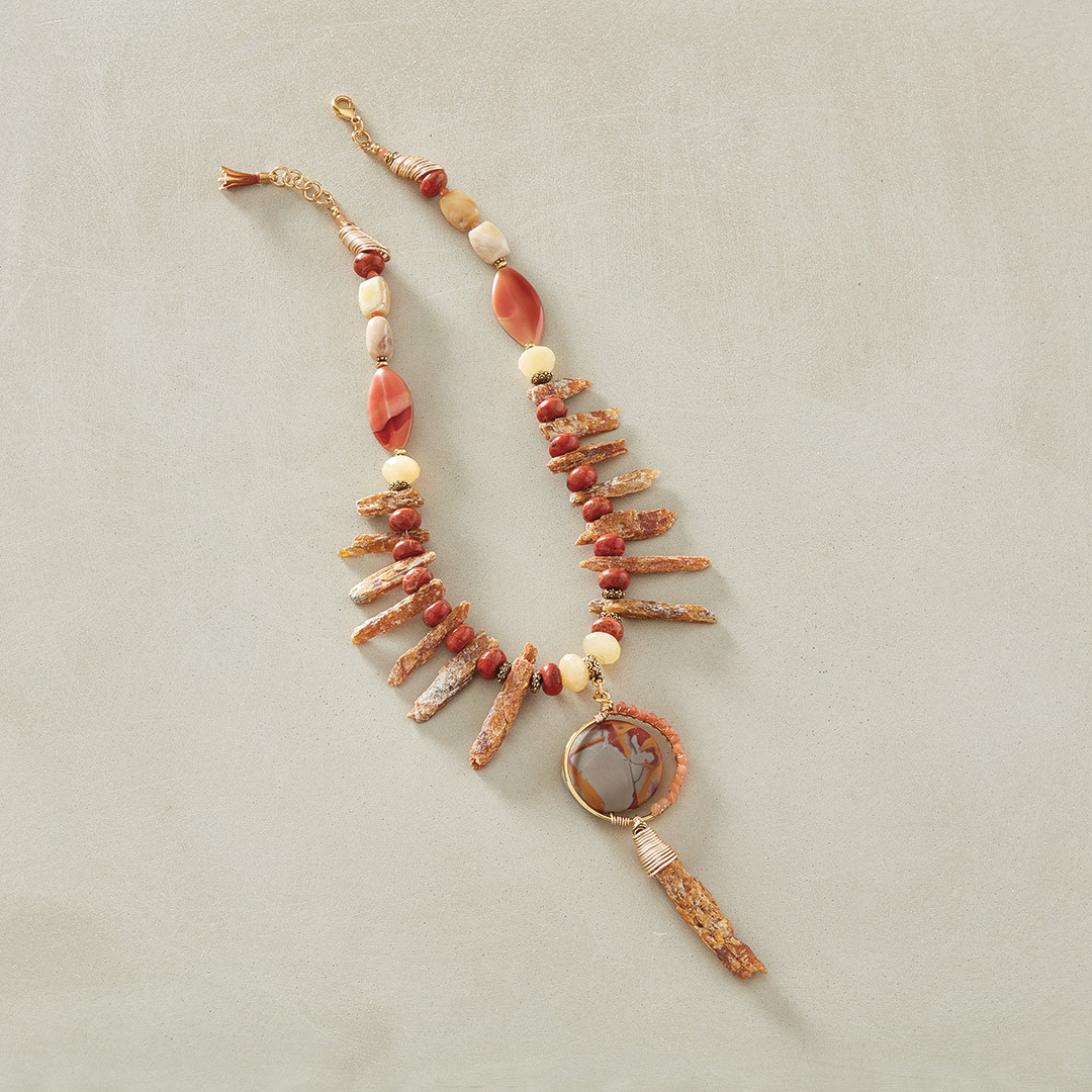 Sandra Lupo's Roughing It Necklace using rough gemstones