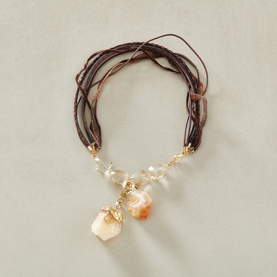 Michelle Mach's Two to Tango Necklace using rough gemstones