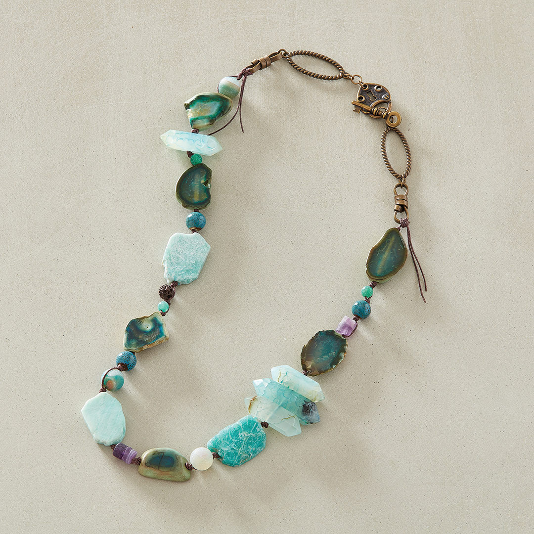 Terry Ricioli's Ocean Moods Necklace using rough gemstones