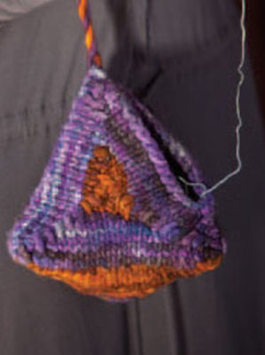 Knit this knitted felt bag that can be found in this free ebook on knitting bag patterns.