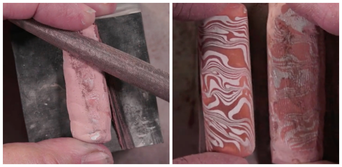 The beauty within: Filing your piece slowly and gently will reveal the captivating patterns inside.