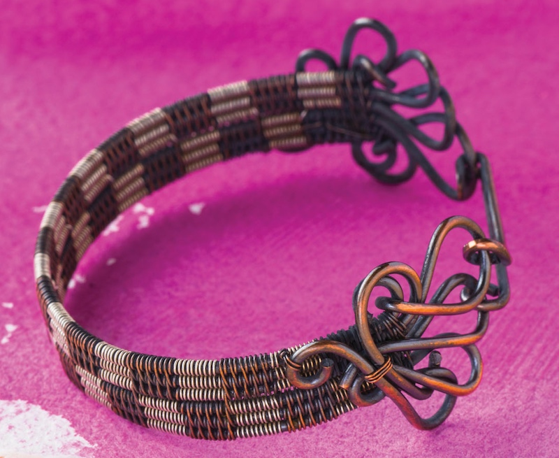 All Checkered Out Bracelet from Fine Art Wire Weaving: Intermediate Online Workshop with Sarah Thompson
