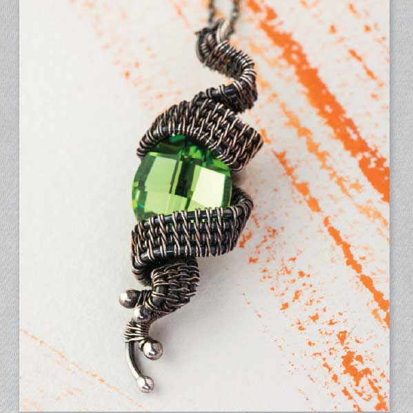 Rivulet pendant by Sarah Thompson from Fine Art Wire Weaving