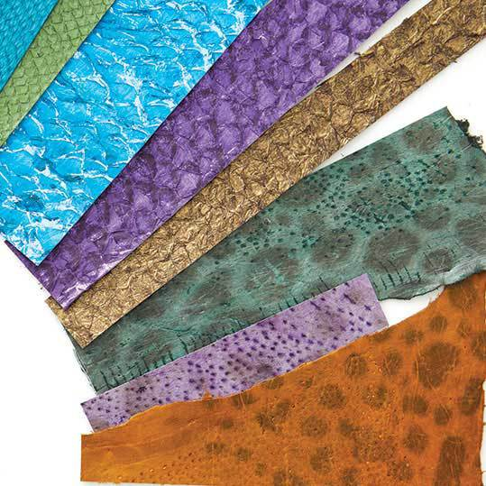 fish leather for jewelry making Lisa Peters Art