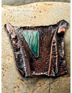 brooches: fold-formed brooch by Helen Driggs