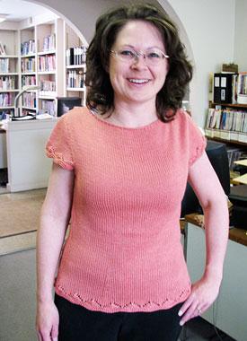 Knitting Gallery - Folded Cowl Tee Debbie