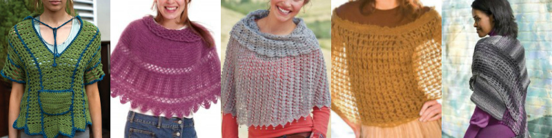 5 Free Crochet Poncho Patterns