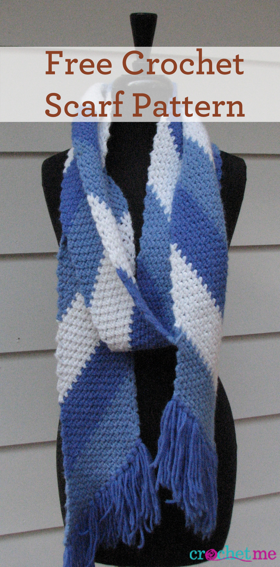Free Crochet Scarf Pattern - Quick enough to make as a gift.