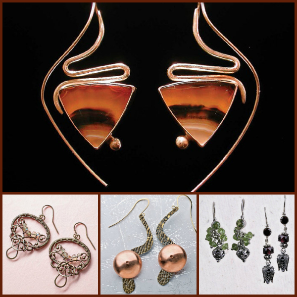 Free jewelry making ideas for DIY earrings as gifts.