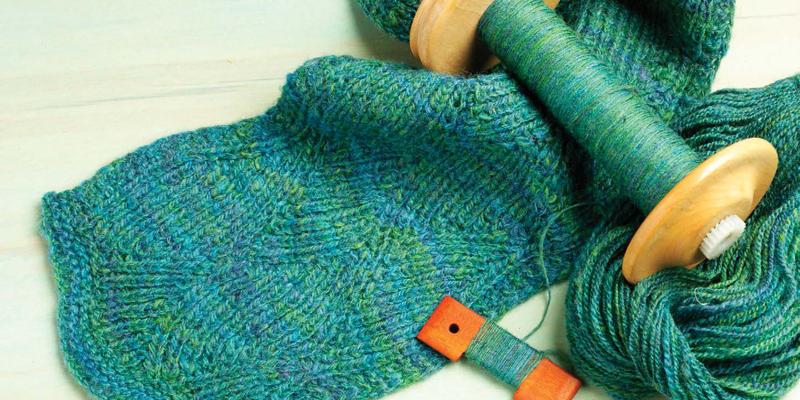 Scarf Knitting Patterns Free Homespun Yarn Patterns To Knit
