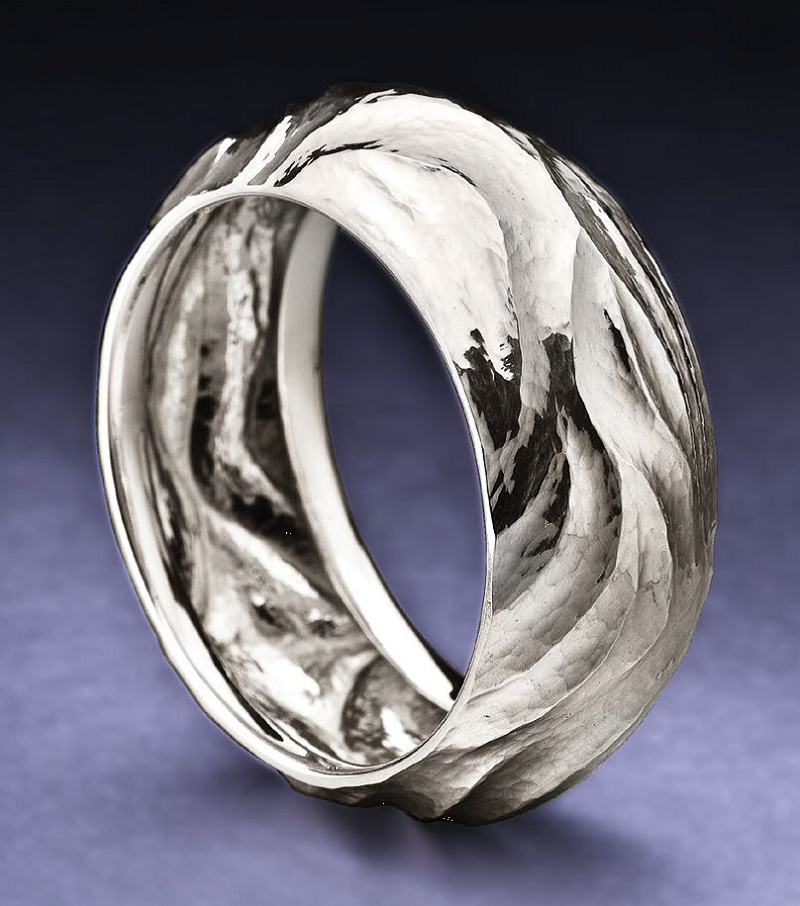 Bill Fretz made this hammered bangle using Argentium Sterling Silver and Fretz hammers and stakes; photo: Jim Lawson