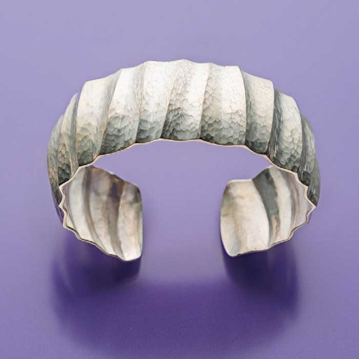Bill Fretz fluted cuff bracelet