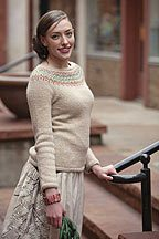 The Freyja Sweater and Hat is a fun and beautiful colored knitting pattern to complete.