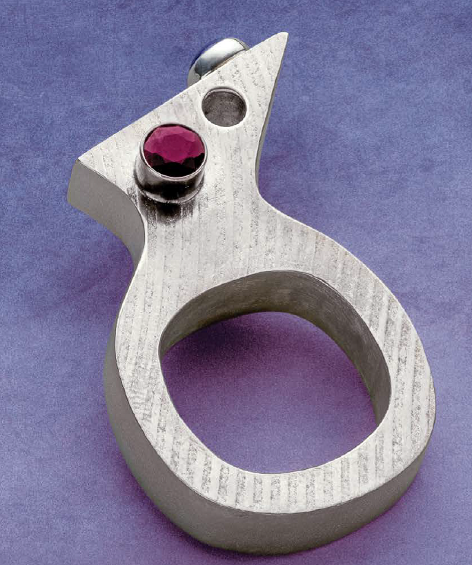 Jeff Fulkerson's Look Through It ring project, March/April 2020 Lapidary Journal Jewelry Artist; photo: Jim Lawson
