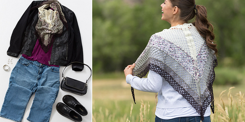 Get Down with the Gingko – One Shawl, Three Ways